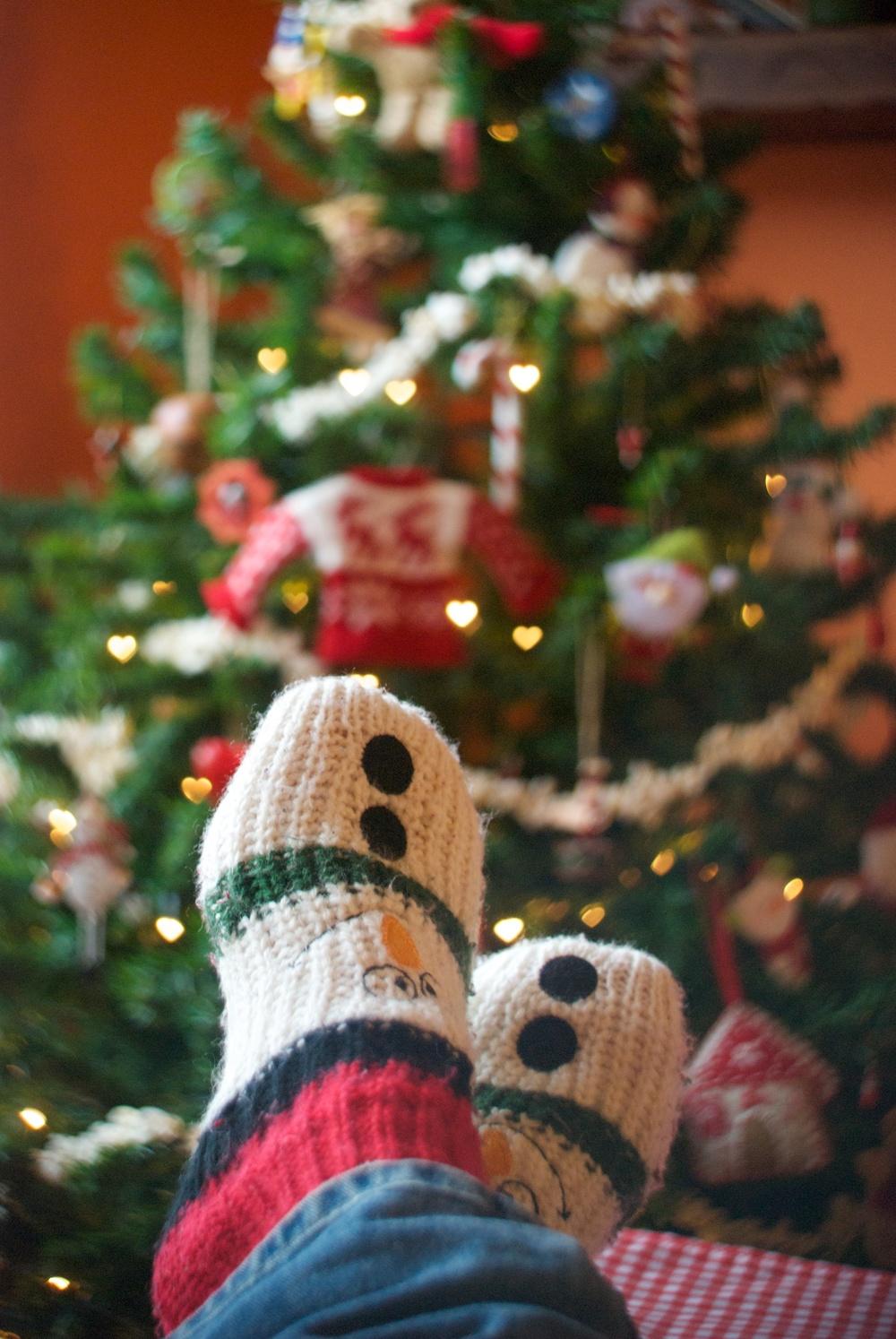 Calcetines navideños