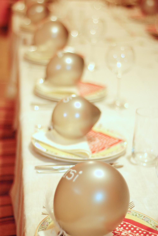 Los globos así vistos en fila quedaban simpáticos jajaja