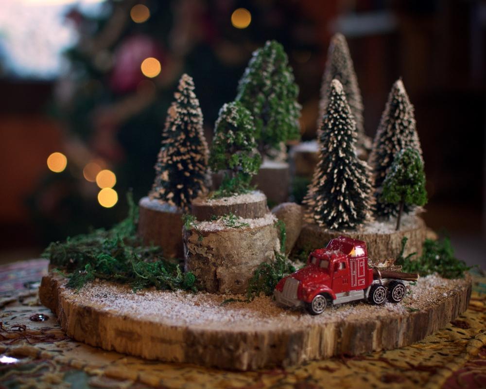 Diorama paisaje navidad 1