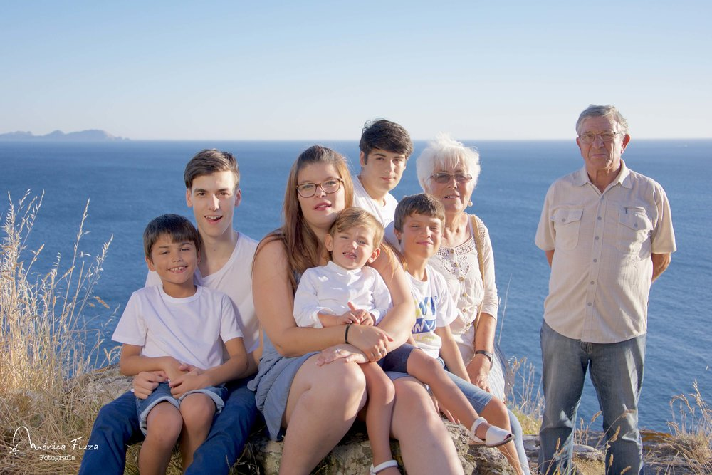 Sesion de fotos abuelos y nietos