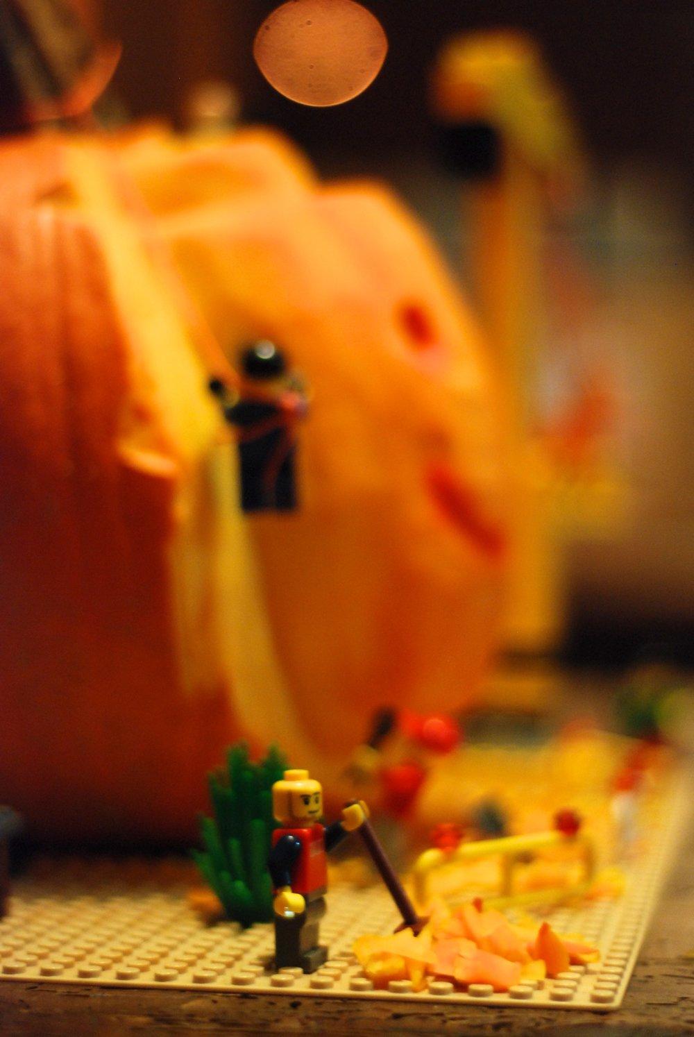 Samain Halloween Calabaza Lego