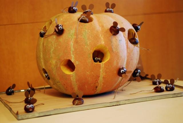 Samain Halloween Calabaza ratones