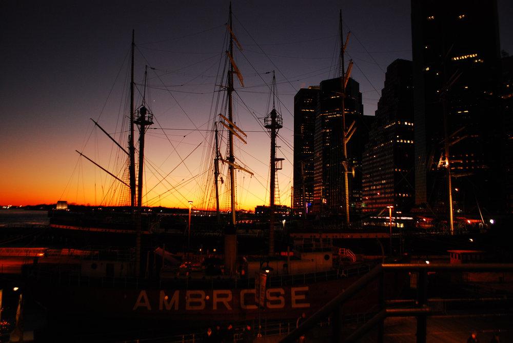 Atardecer en el Pier 17, Nueva York
