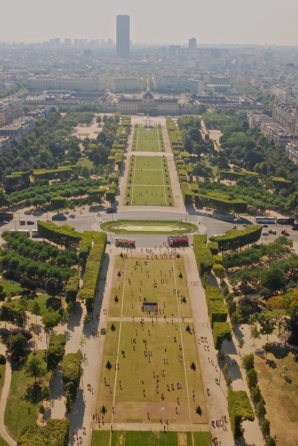 Champs de Mars desde la Torre Eiffel