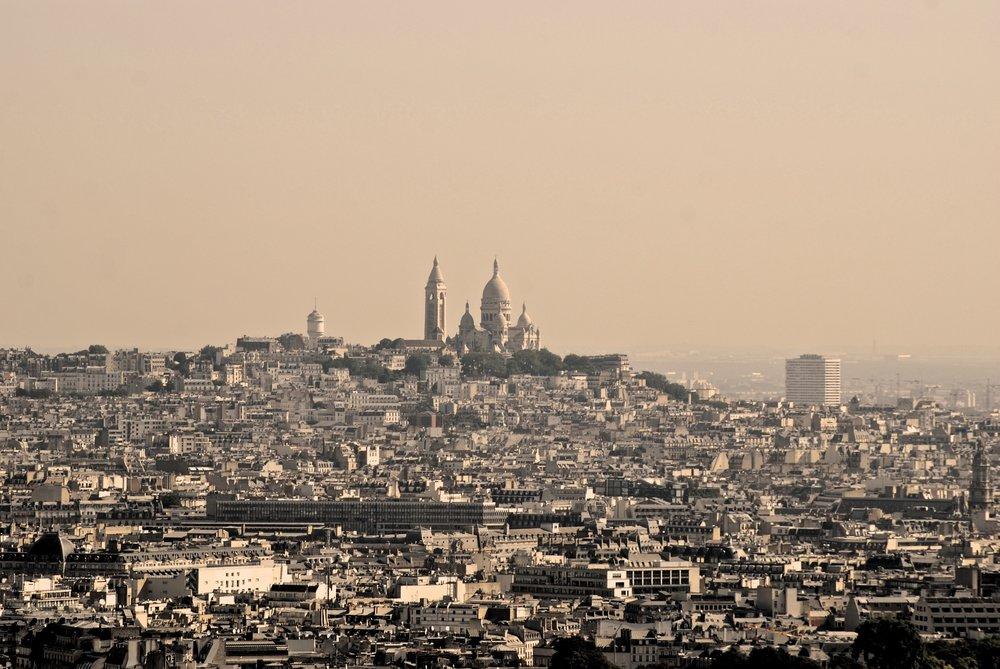 El Sacre Coeur desde la Torre Eiffel