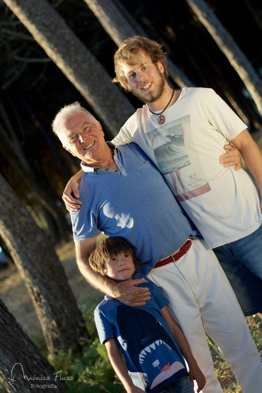 Sesión de fotos abuelos y nietos