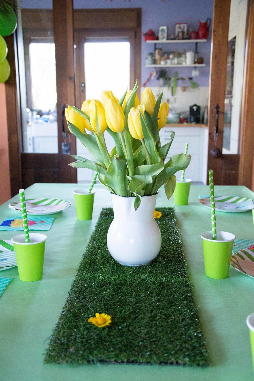 Decoración fácil fiesta greenary