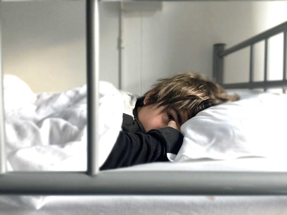 Durmiendo en el albergue
