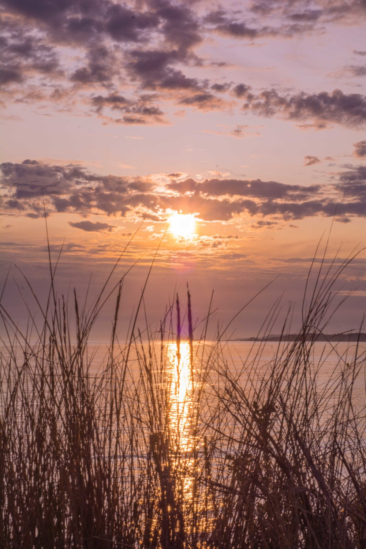 Puesta de sol en la playa de A Lanzada