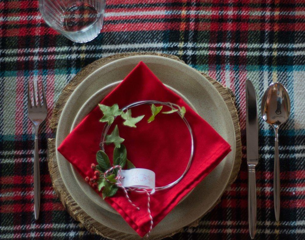 Ideas para decorar la mesa en Navidad