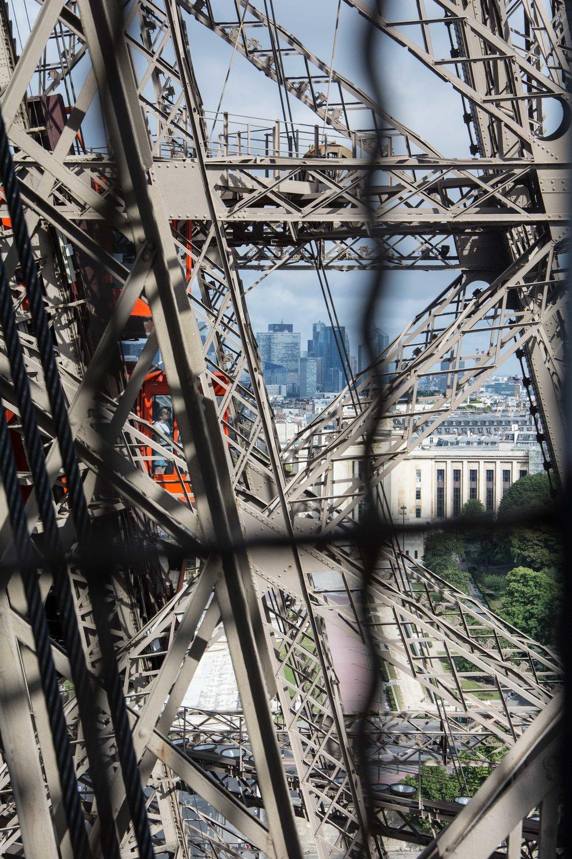 En la Torre Eiffel