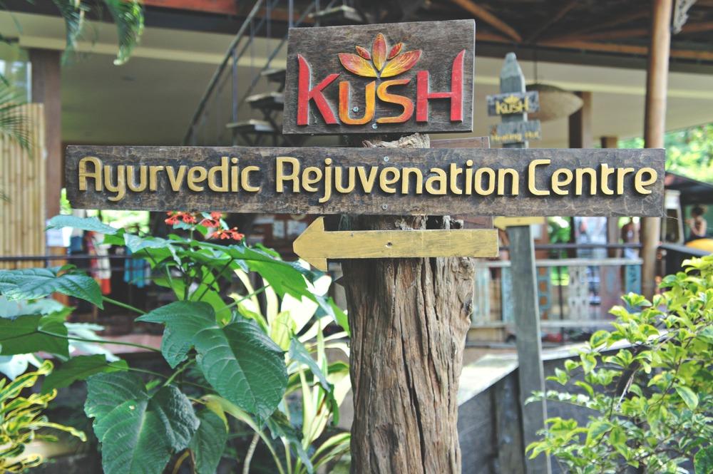 Ayurvedic Rejuvenation Centre Sign