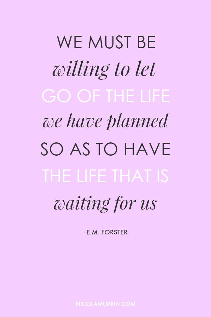 Sometimes it's so easy to get caught up in plans and goals  that our passions become a burden. This is a sure sign we need to let go. Click to read or pin for later