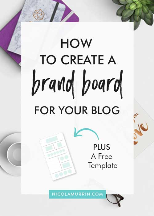 Brand Board Template | Blog Branding | Creative Entrepreneur | Blogging