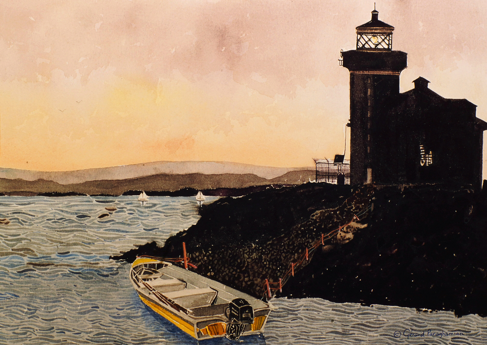 Lighthouse at Dawn , from the  United States  collection.