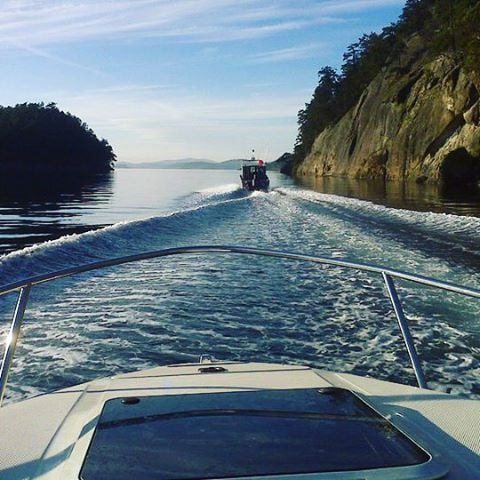 How is this for a morning commute? #gulfislands