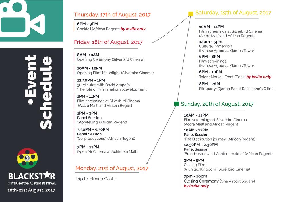 Event Schedule 2017