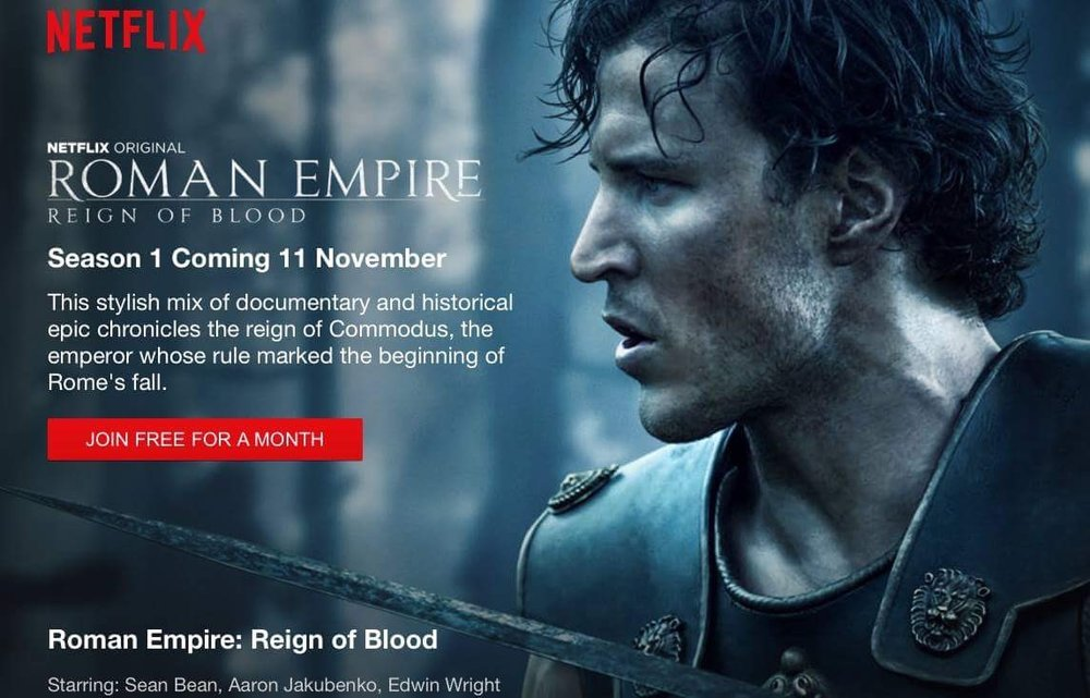 Roman empire- reign of blood    Netflix