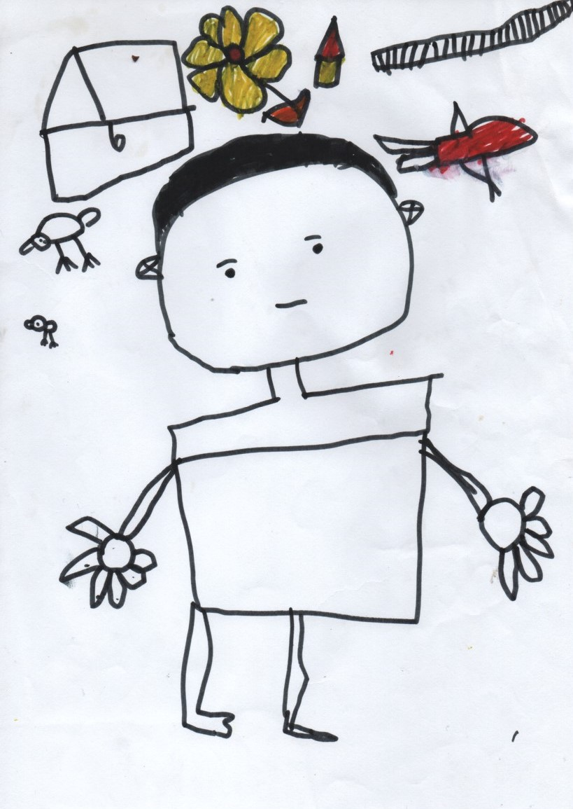 A drawing by a 5 year-old Tamil asylum seeker living in detention, submitted with permission by a detention home care worker.