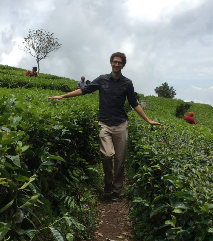 Eric at a tea plantation near Bandung, Indonesia
