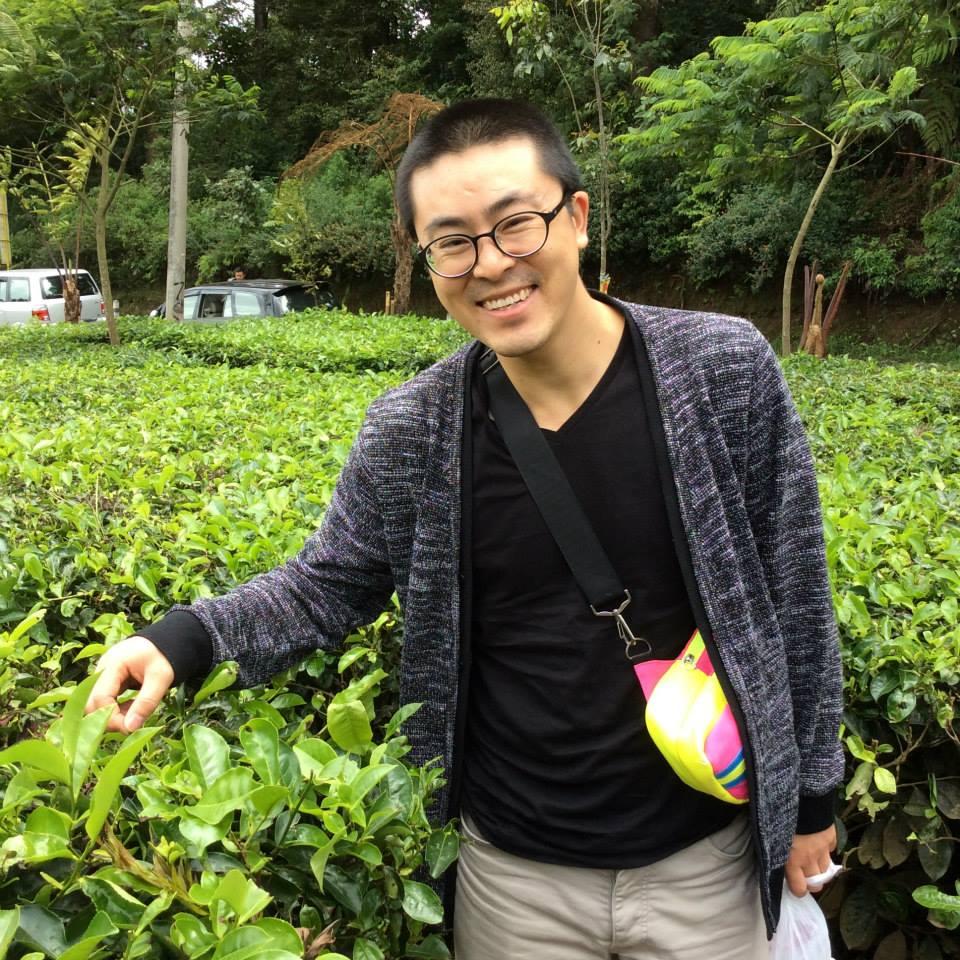 QQ at a tea plantation near Bandung, Indonesia