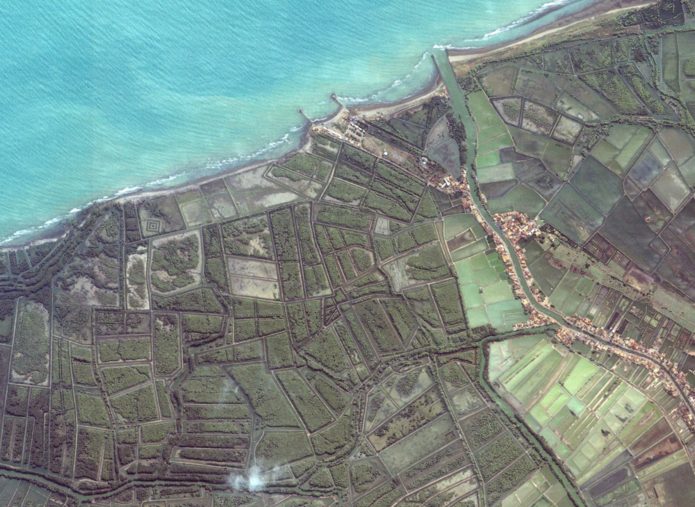 Pondok Bali, Java, Indonesia, in 2002.  Image from Google Earth.