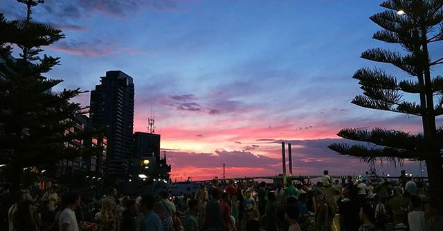 Spectacular #evening out at #docklands on #Saturday  #australiaday #sunset #summer #summerskies #aussiesummer
