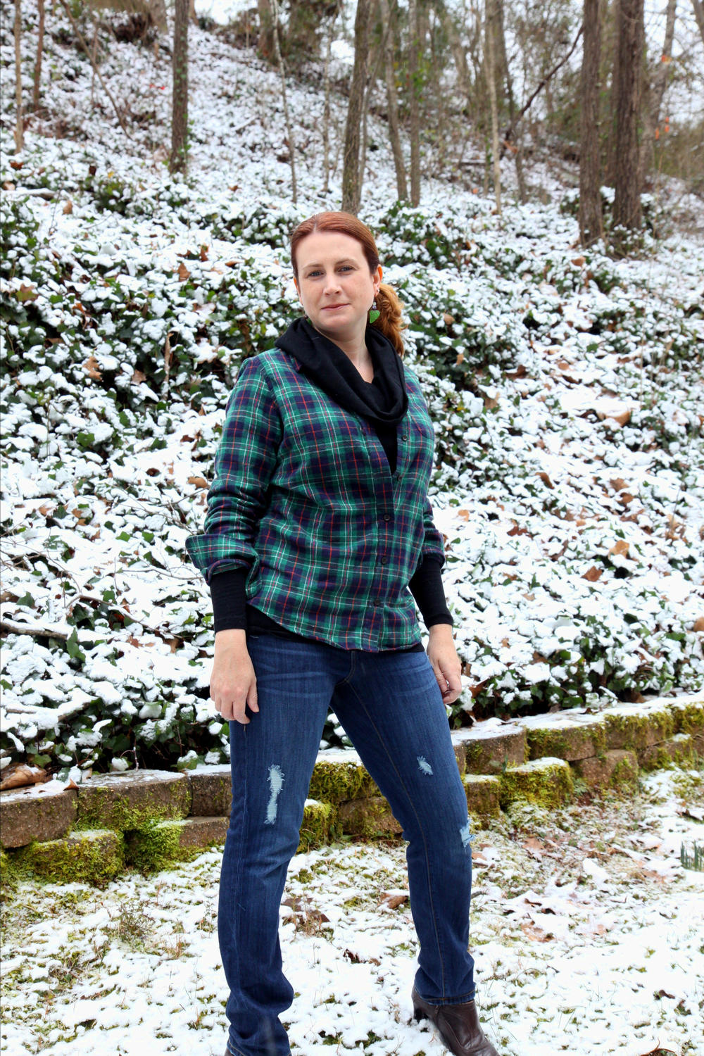Look! Snow! Had do take a flannel POW shoot with this backdrop!