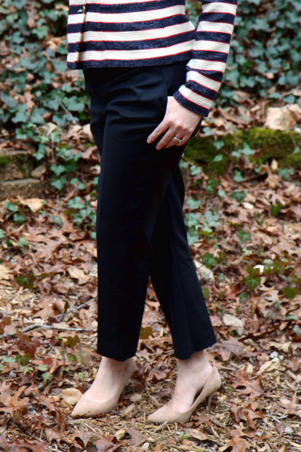 Outfit:  Go-To Trouser ,  Cruise Jacket , and older Target suede pumps.
