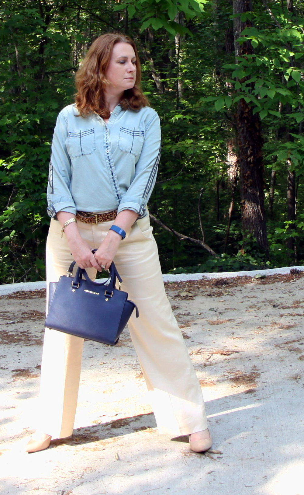 2.  Bardot POW: Working It Wrapped, Classy Linen & Denim Wednesday