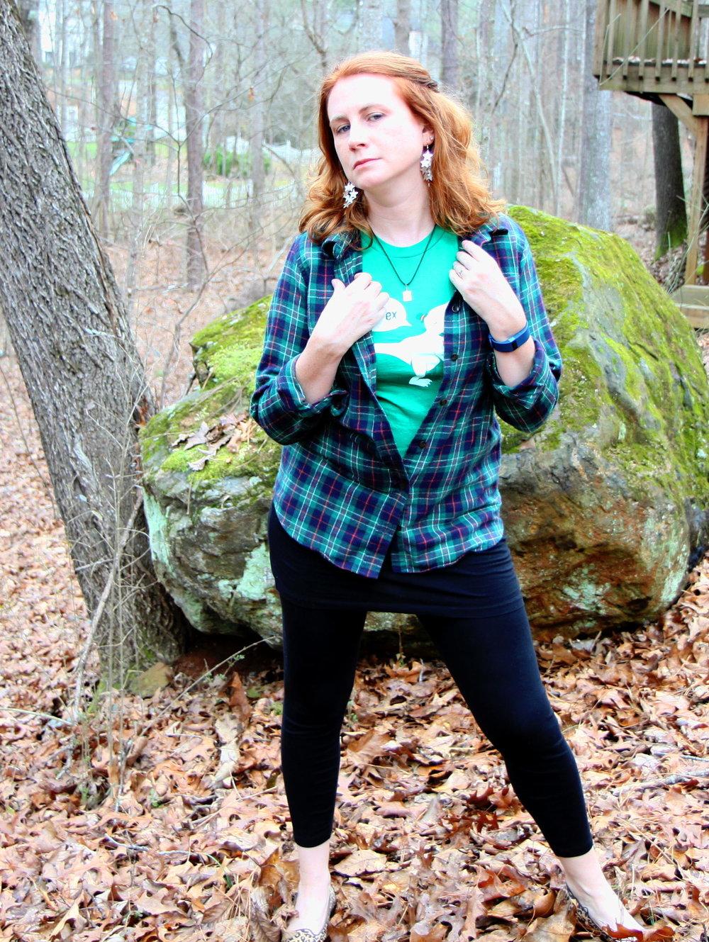 1.  Plaid POW: Flannel Geek Chic