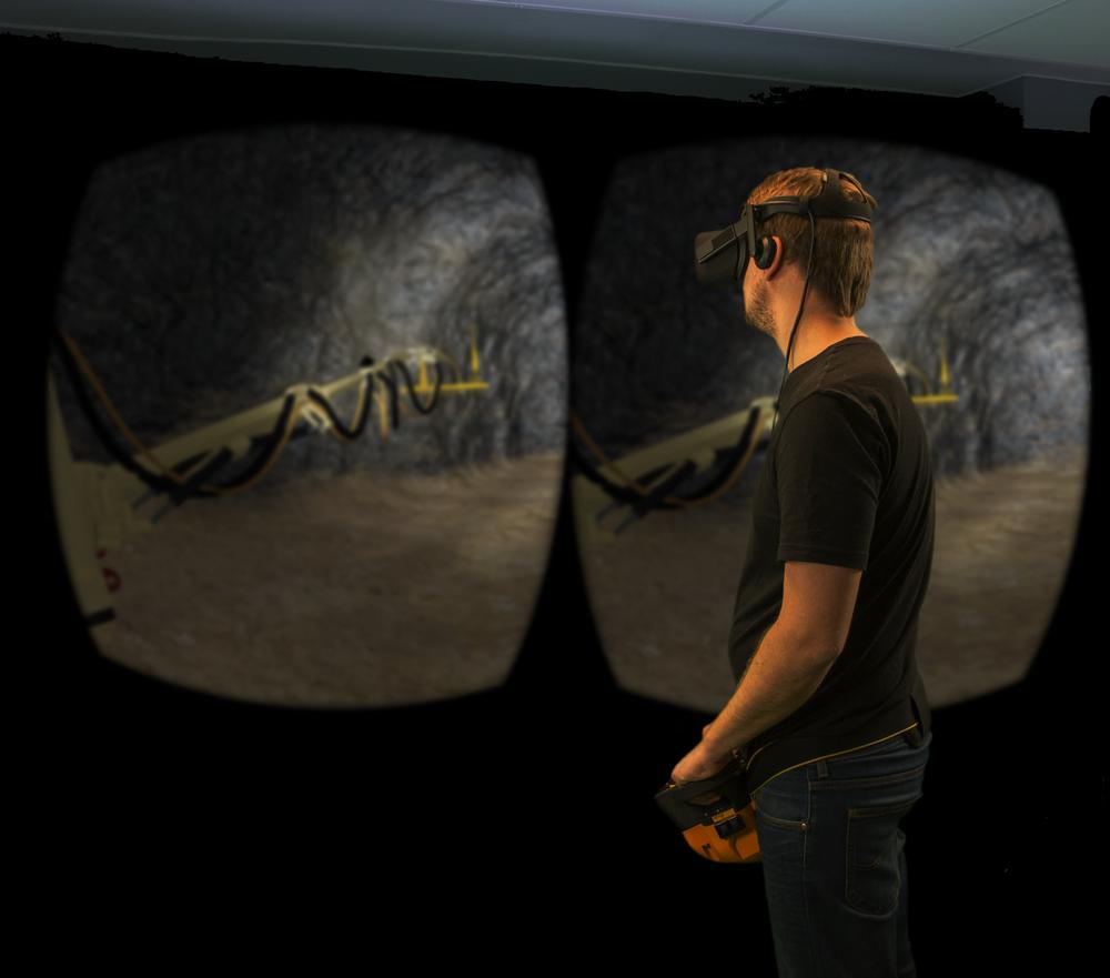 Betongsprutningsutbildning i VR med Edvirts VR Shotcrete Simulator™