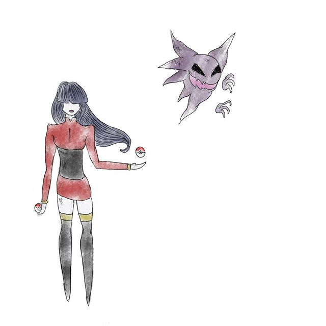 Sabrina the not-so-teenage witch Pokémon gym leader  #fanart #fanarts #pokemonart #sabrina #saffroncity #pokemonredandblue #artist #sketch #sketchoftheday #artistsoninstagram #artshoutout #japaneseart #mangaart #kawaiiart #kawaiigirl #haunter #ghost #ghostpokemon #gengar #timburtonstyle