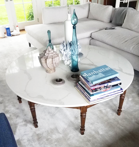 calacatta marble table