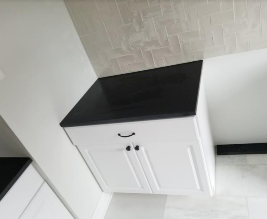 absolute black granite eased edge counter