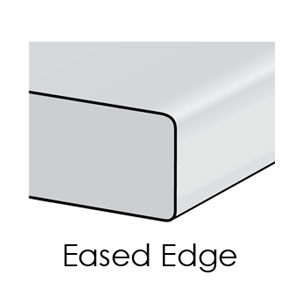 eased edge kitchen counter