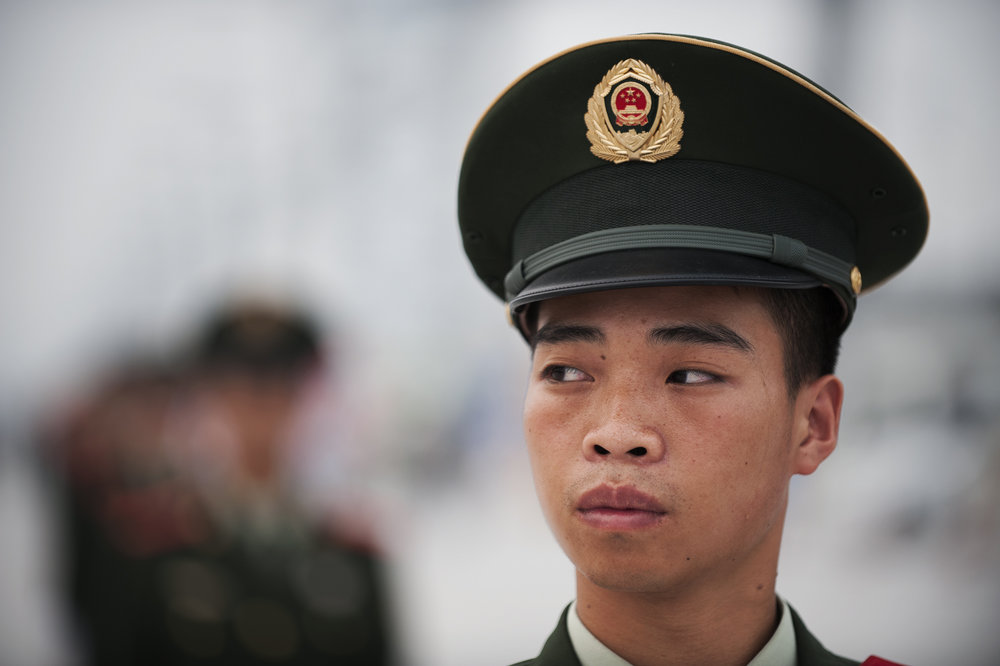 Soldier. Beijing, China.