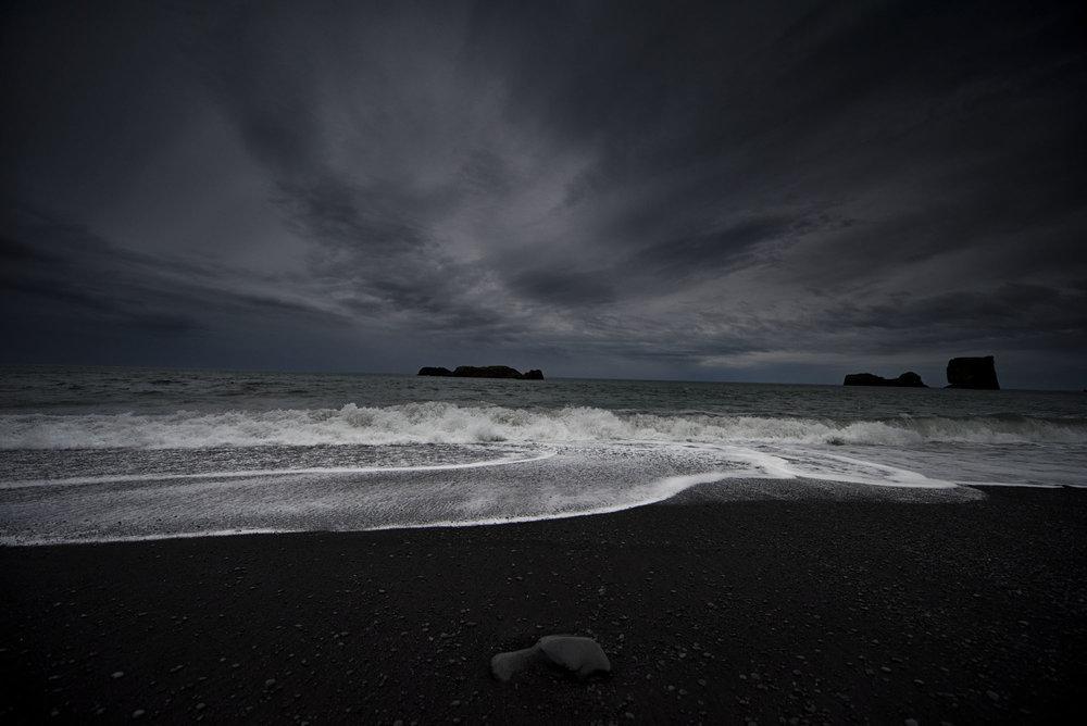 Black Beach. Vík, Iceland.