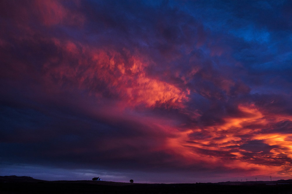 Fire Sky. Kyle, SD.