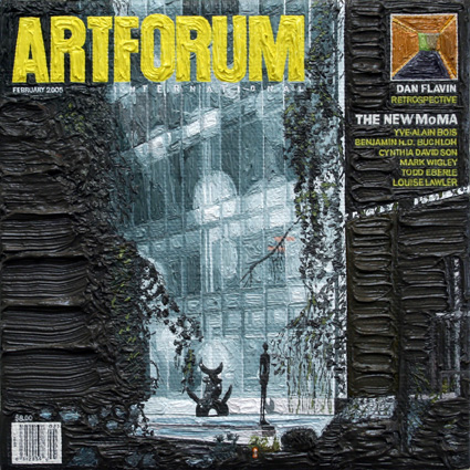 Artforum February 2005, 5ins x 5ins, Oil on linen, 2008.