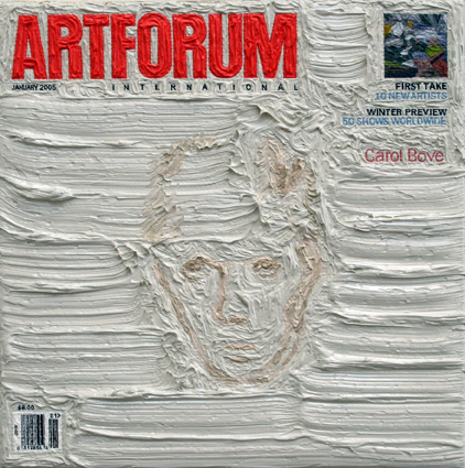 Artforum January 2006, 5ins x 5ins, Oil on linen, 2008.