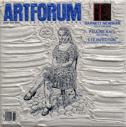 Artforum March 2002, 5ins x 5ins, Oil on linen, 2008.