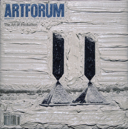 Artforum October 2007, 5ins x 5ins, Oil on linen, 2008.