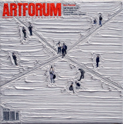 Artforum September 2007, 5ins x 5ins, Oil on canvas, 2008.