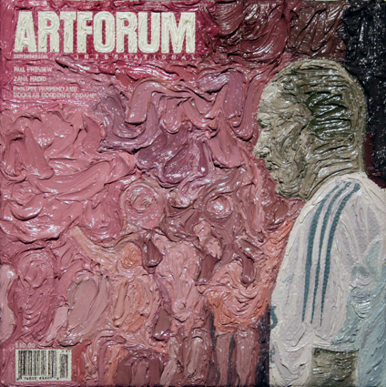 Artforum September 2006, 5ins x 5ins, Oil on linen, 2008.