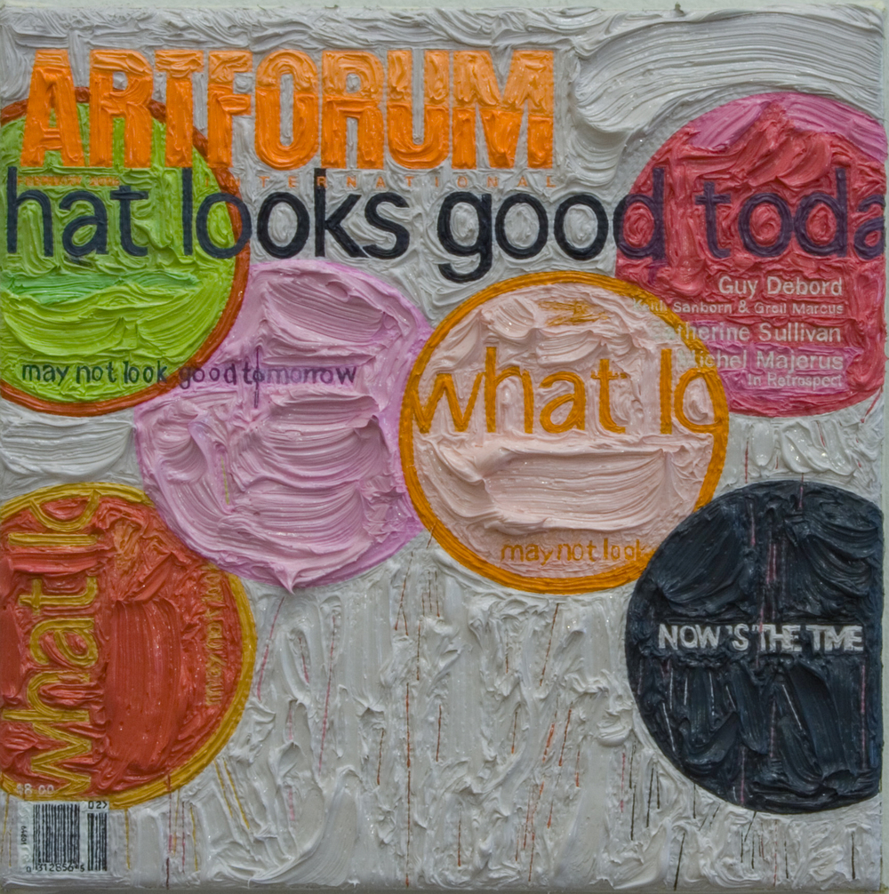 Artforum February 2006, Oil on linen, 2008.