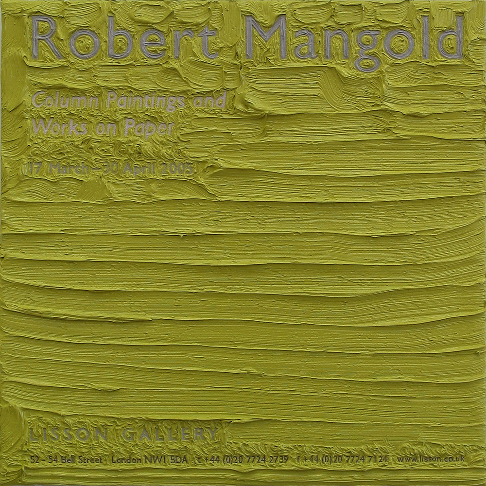 Robert Mangold at Lisson