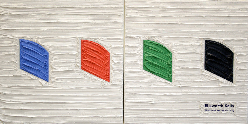 Ellsworth Kelly at Matthew Marks, 26.5cm x 53cm, Oil on linen, 2007.