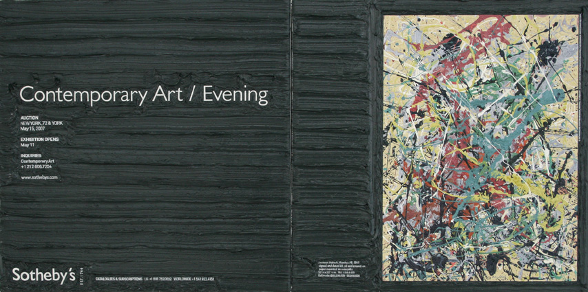 Jackson Pollock at Sotheby's, 26.5cm x 53cm, Oil on linen, 2008.