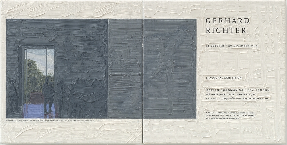 Gerhard Richter at Marian Goodman, 26.5cm x 53cm, Oil on Linen, 2015.
